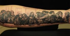 Image result for the last supper tattoo