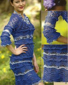 Синее платье крючком. Обсуждение на LiveInternet - Российский Сервис Онлайн-Дневников