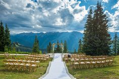 Ceremony on top of Aspen Mountain by Bluebird Productions, Aspen, Aspen Wedding