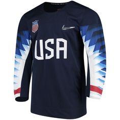 3b3f6a1410f Men s Nike Navy US Hockey 2018 Winter Olympics Replica Jersey. Team USA Shop