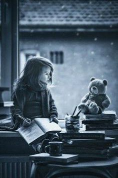 "Young Goals"" & Teddy Bear, Black and White, Photography . Black White Photos, Black And White Photography, Kind Photo, Cute Bear, Foto Baby, Jolie Photo, Beautiful Children, Children Photography, Cute Kids"