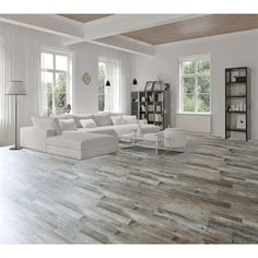 Modern herringbone parquet flooring effect created using Cavalio     Floors for main room  kitchen   hallways  Shop Goodfellow x Weathered  Barnwood Oak Luxury Vinyl Plank at Lowe s Canada  Find our selection of vinyl  flooring