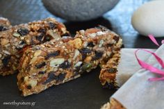 Ενεργειακές Μπάρες με Ταχίνι   Granola Bars with Tahini   Vegan Healthy Sweets, Healthy Snacks, Healthy Recipes, Sweet Recipes, Snack Recipes, Energy Snacks, Granola Bars, Love Is Sweet, Tahini