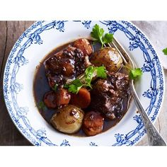 Oxtail stew with red wine and port recipe - By Australian Women's Weekly, A rich oxtail stew with red wine and port; the perfect winter dish.