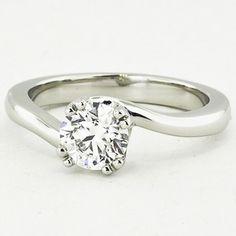 Platinum Seacrest Ring set with 0.90 Carat, Round, Super Ideal Cut, F Color, IF Clarity Diamond | brilliantearth.com