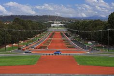 Parliament House  Anzac Parade, Canberra, Australia. Canberra is the capital and political centre of Australia. The city is located at the northern end of the Australian Capital Territory, 280 km (170 mi) south-west of Sydney, and 660 km (410 mi) north-east of Melbourne.It's about 5 hours drive or 1 hour flight from Melbounre.- Flickr - Photo Sharing!