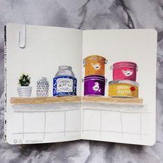 Pour moi aujourd'hui ce sera thé aux agrumes  #flow29jours #teatime #illustration #kusmitea #loveorganic #tea #melanievoituriez #gouache #moleskine #painting @flowmagazine_fr