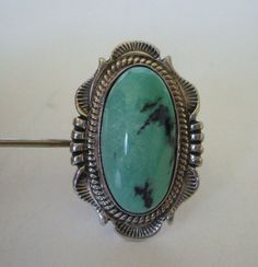 Signed WILL DENETDALE Vintage NAVAJO Sterling Silver & Turquoise Ring, size 7.   TurquoiseKachina, $206.10