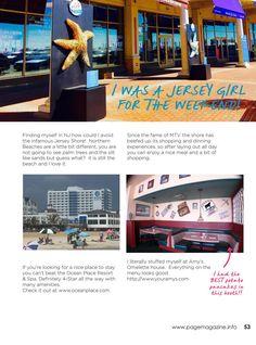 PAGE MAGAZINE SUMMER 2016 by PAGE MAGAZINE - issuu Nj Shore, Jersey Girl, Summer 2016, Mtv, Turning, Articles, Magazine, Beach, Outdoor Decor