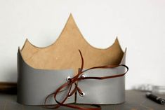 kids craft leather crowns leather lace
