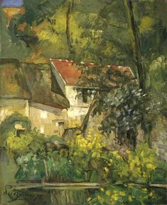 Paul Cezanne Paintings-The House of Pere Lacroix in Auvers, 1873