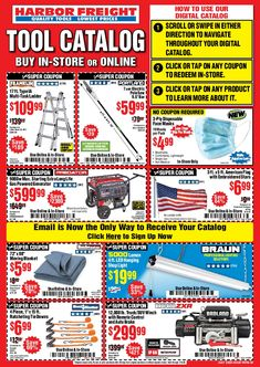Harbor Freight Coupon, Harbor Freight Tools, Tool Storage Cabinets, Digital Coupons, Weekly Ads, Do You Know What, Catalog, Garage, Hobo Bag