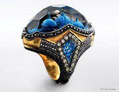 Wonderful ring by Sevan Bicakci Jewelry Art, Jewelry Rings, Jewelry Accessories, Fine Jewelry, Fashion Jewelry, Unique Jewelry, Indian Jewelry, Sevan Bicakci, Bling
