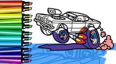 How to Draw cartoon drag racing Ford Taunus car with big wheels. Coloring pages with funny skunk! https://youtu.be/CHD8MVIiQMU #coloringpage #howtodraw #howtodrawcars #musclecar #dragracing #cardraw #coloring