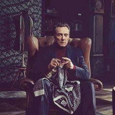 Christopher Walken goes knitting for @jackandjones_official
