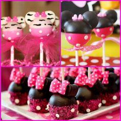 Minnie Mouse Cake Pops, Cakepops...