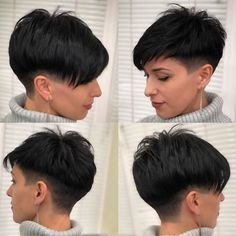 Funky Short Hair, Really Short Hair, Super Short Hair, Girl Short Hair, Short Hair Cuts For Women, Girls Shaved Hairstyles, Short Shag Hairstyles, Cheveux Courts Funky, Mother Of Bride Makeup
