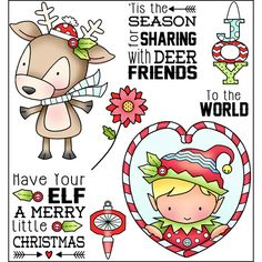 Have Your Elf Darcie's heart and home stamp set Christmas