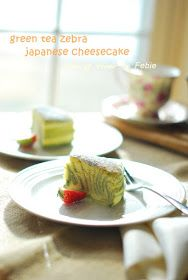 Just another day .: Green tea Japanese Cheesecake