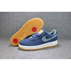 more photos 3eee1 daf90 2018 Blue Nike AF1 Womens Air Force 1 Low Shoes