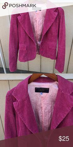 JUICY COUTURE SZ M CORDUROY PINK JACKET BLAZER Cute blazer Juicy Couture Jackets & Coats