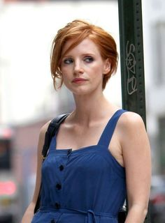 Jessica Chastain Short Hairstyle - a bit more messy