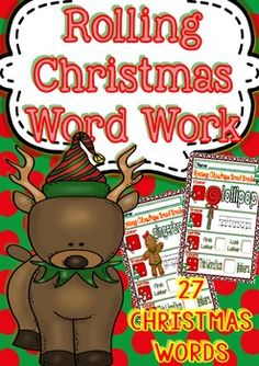Rolling Christmas Word Work for Kinders/3rd Grade