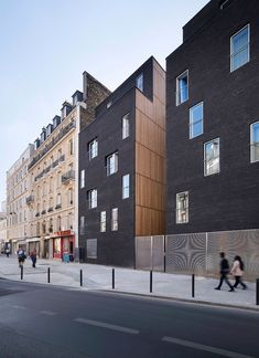 Image 2 of 24 from gallery of Student Residence in Paris / LAN Architecture. Courtesy of lan architecture Architecture Résidentielle, Contemporary Architecture, Sustainable Architecture, Modern Contemporary, Renovation Facade, Habitat Collectif, Student House, Facade Design, Building
