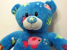 "Build A Bear Under the Deep Blue Sea 17"" Teddy Bear Starfish Nose Plush Aqua Toy #BuildABearWorkshop #AllOccasion"