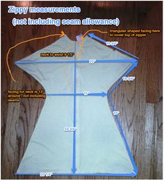 Specific dimensions for the Zipadee Sleep sack. Want to make your own or ensure that your baby will fit? Here's the guide!