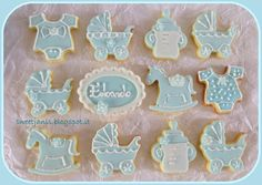 """- """"It's a boy"""" vanilla cookies, decorated with fondant and royal icing... Hope you like them"""