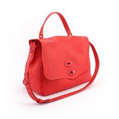 1425585675 POSTINA. Linea Pura M Rosso Monferrato. Spaziosa daily bag sfoderata  associata alla prima pelle