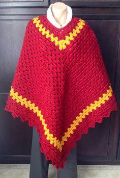 Crochet poncho
