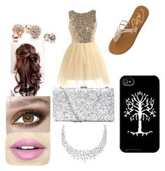 """""""Valentine's dance"""" by skyeacker9 on Polyvore featuring Roxy, GUESS and Fiebiger"""