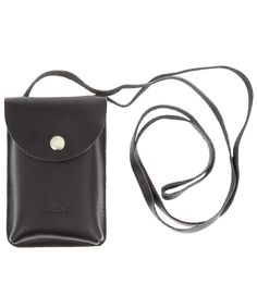BLACK STEVE LEATHER IPHONE CASE, SANDQVIST