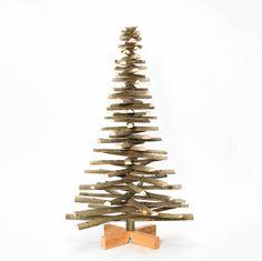 Houten kerstboom lijsterbes met bast - Onthout