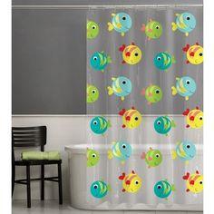 Maytex Gilligan Googly Eye Fish Vinyl Shower Curtain