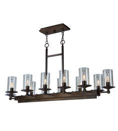 Artcraft AC10140BU Legno Rustico 12 Light 47 inch Brunito Island Light Ceiling Light #lightingnewyork #lny #lighting