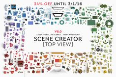 Scene creator [Top view] ~ Product Mockups on Creative Market