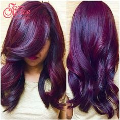 Ombre Hair Extensions Indian Virgin Hair Body Wave 1 Bundles Two Tone #1B/Purple Ombre Human Hair Weave Wet and Wavy Indian Hair