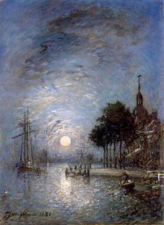 The Port of Dordrecht at Twilight Johan-Berthold Jongkind - 1881