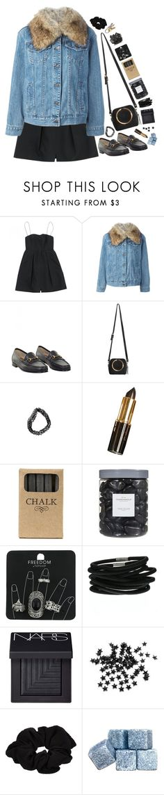 """Chalk"" by ritaflagy ❤ liked on Polyvore featuring Carven, MICHAEL Michael Kors, Gucci, Jayson Home, Threshold, Topshop, NARS Cosmetics, INC International Concepts, River Island and W&P Design"