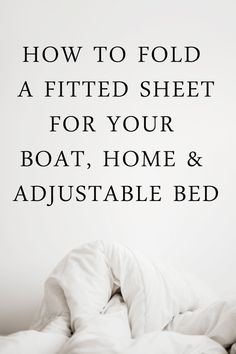 How To Fold A Fitted Sheet - For Your Home, Boat or Adjustable Bed - Quahog Bay Bedding Fold Bed Sheets, Folding Fitted Sheets, Angry Pirate, Rv Interior, Interior Design, Rv Bedding, Boat Bed, Bay Boats, Mattress Pad