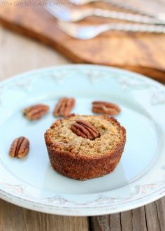 These Pecan Pie Muffins are a mix between a pie and a muffin. They have a muffin texture with a soft gooey inside like a pecan pie.