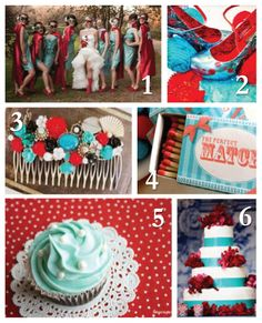 Red and Turquoise Wedding Inspiration