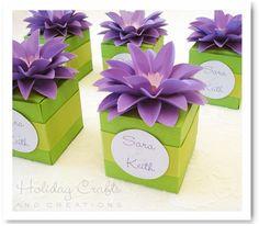 plantilla caja y instrucciones para hacer la flor