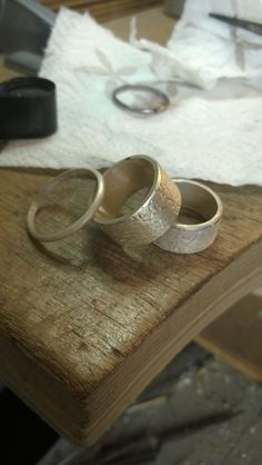 About to become a beautifull pare of weddingrings!