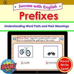 Boom Cards - Success with English: Prefixes