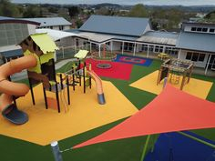 An inclusive playground in Auckland, NZ. Image courtesy of TigerTurf. Auckland, 30 Years, Childcare, Playground, New Zealand, Sustainability, Park, School, Image