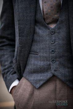 Fabio Attanasio:      Tailor: Gennaro Annunziata of Chiaia-Napoli Sartoria - Bespoke Blazer & Vest, 100% Cashmere fabric from Lanificio Cerruti; Bespoke Trousers in Corduroy fabric from Scabal.      Santillo 1970 hand-made shirt; Chiaia-Napoli Tie.